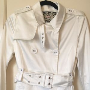 NWOT Pink Martini Belted Trench Coat